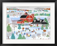 Apple Pond Farm Winter Framed Print