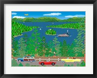 Cruising Lake Tahoe Framed Print