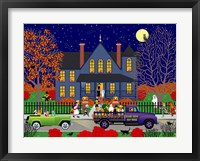 Framed Jack O' Lantern House