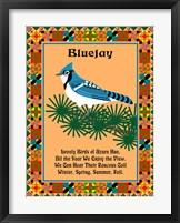 Blue Jay Quilt Framed Print