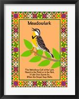 Meadowlark Quilt Framed Print