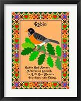 Framed Robin Quilt