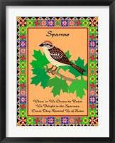 Framed Sparrow Quilt