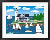 Framed Summer Lighthouse