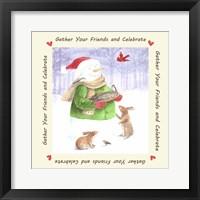 Framed Snowman Friends