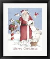 Framed Merry Christmas Santa