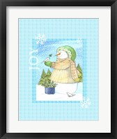 Snowman Doves Framed Print
