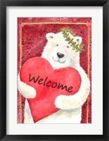 Framed Polar Bear Heart Welcome