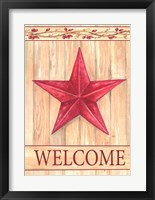 Barn Star Welcome Framed Print