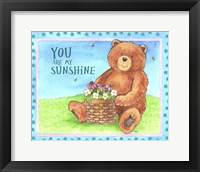 Bear Sunshine Framed Print