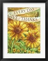 Framed Sunflower Give Thanks Everyday