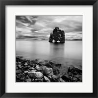 Iceland Dinosaur Framed Print