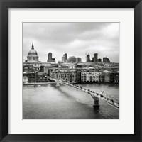 Framed London Millenium Bridge