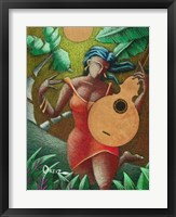 Framed Woman with Guitar