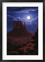 Framed Navaho Moon
