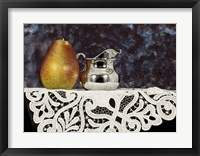 Framed Pear And Silver Creamer