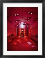 Framed Red Sculpture