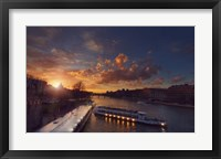 Framed Bateaux Mouches Sunset