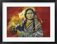Framed Sitting Bull Peace Pipe Visions