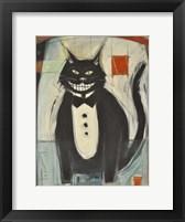 Framed Gato Negro En Tux