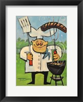 Backyard Bistro Framed Print