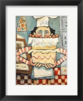 The French Baker Framed Print