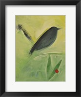 Bird And Berry 3 Framed Print