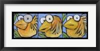 Framed Gold Bird Trio