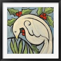 Framed Winter Peace Dove