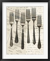 Framed Cutlery Forks in Sepia