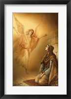 Framed Angel and Mary
