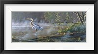 Framed Quiet Cove - Great Blue Heron
