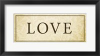 Love Plaque Framed Print