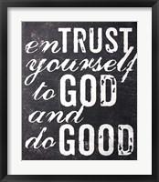 Framed Entrust Yourself To God