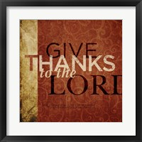 Framed Give Thanks