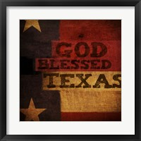 Framed God Blessed Texas