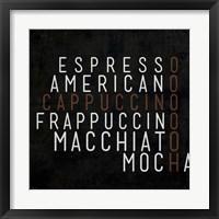 Coffee Kitchen III Framed Print
