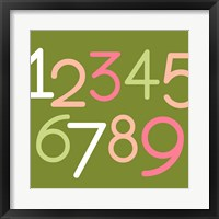 Contemporary Baby Numbers III Framed Print