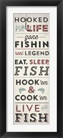Fishing Typography Framed Print