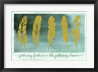 Gathering Feathers Framed Print