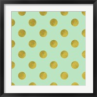 Framed Golden Mint Dots