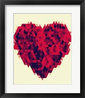 Heart Bouquet Framed Print