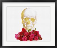 Framed Rose And Skull