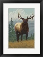 Framed Elk 1