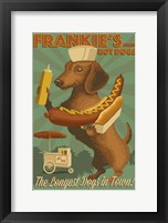 Farnkie's Hot Dogs Framed Print