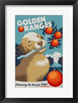 Golden Ranges Framed Print