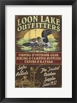 Framed Loon Lake Outfitters
