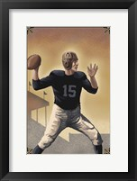 Framed Vintage Football 1