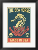 Framed Sea Horse