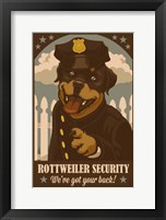 Rottweiler Security Framed Print
